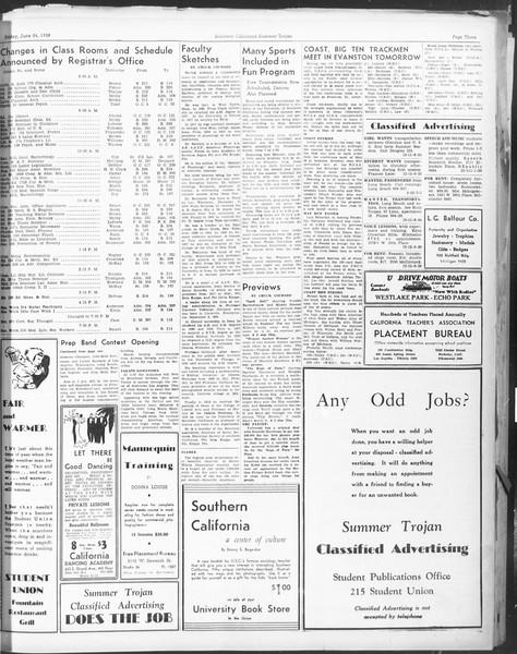 Summer Trojan, Vol. 17, No. 2, June 24, 1938