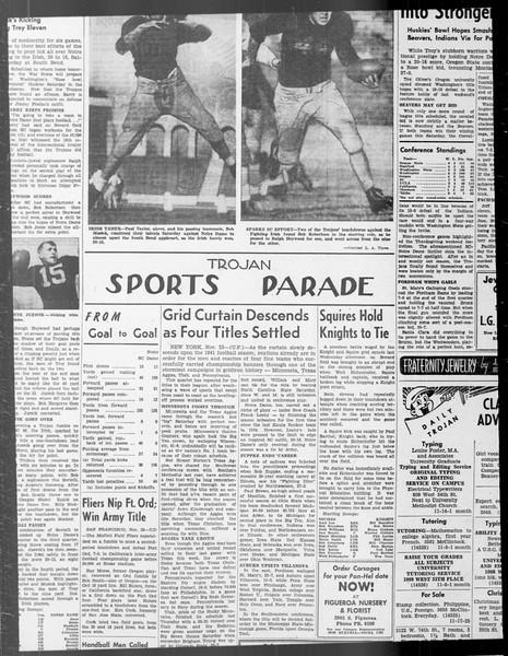 Daily Trojan, Vol. 33, No. 38, October 30, 1941