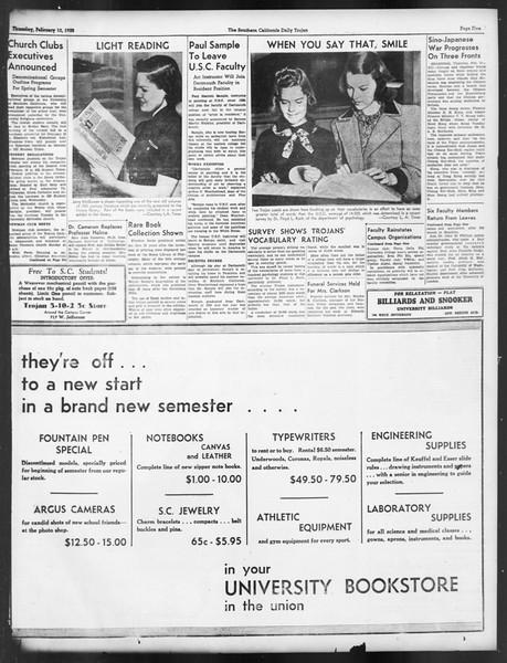 Daily Trojan, Vol. 29, No. 77, February 10, 1938