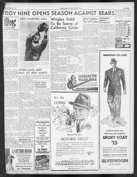 Daily Trojan, Vol. 29, No. 96, March 11, 1938