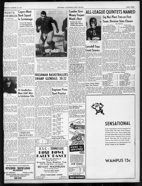 Daily Trojan, Vol. 31, No. 60, December 12, 1939
