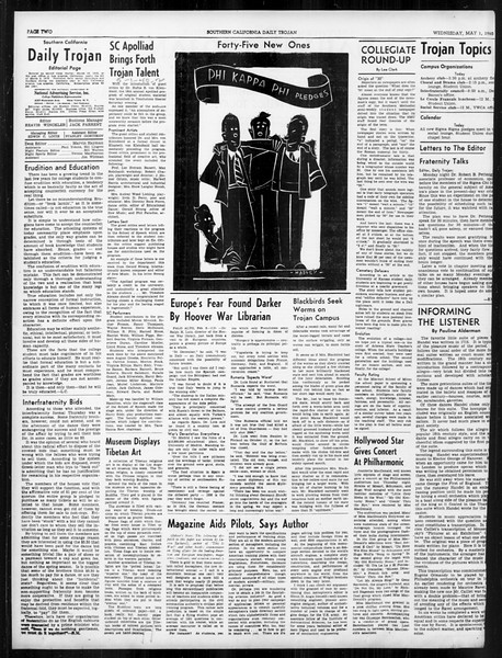 Daily Trojan, Vol. 31, No. 135, May 01, 1940