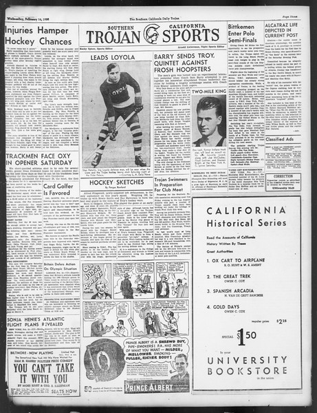 Daily Trojan, Vol. 29, No. 81, February 16, 1938