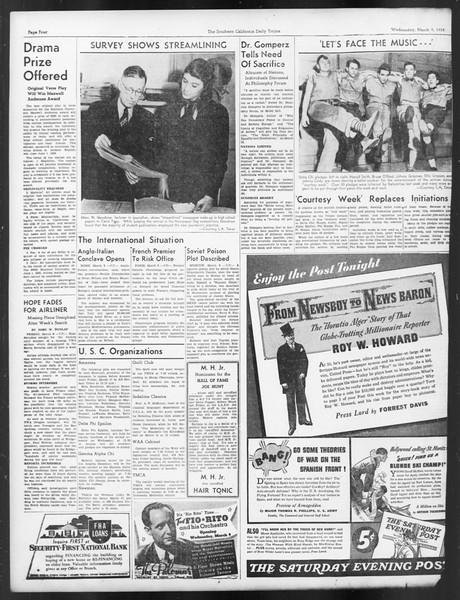 Daily Trojan, Vol. 29, No. 94, March 09, 1938