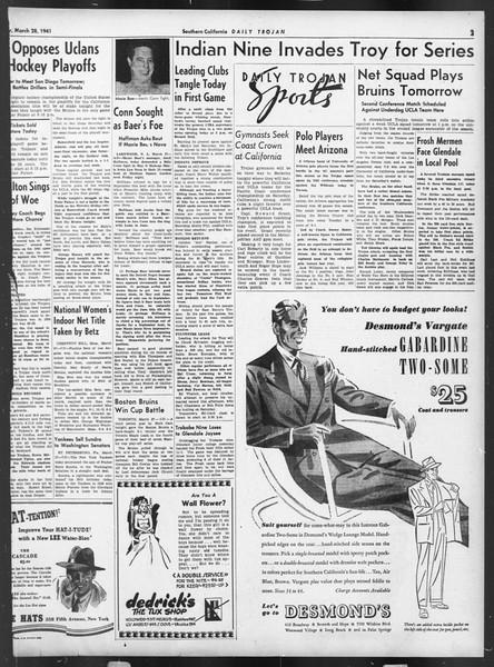 Daily Trojan, Vol. 32, No. 111, March 28, 1941