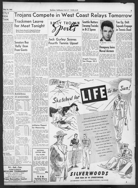 Daily Trojan, Vol. 32, No. 143, May 16, 1941
