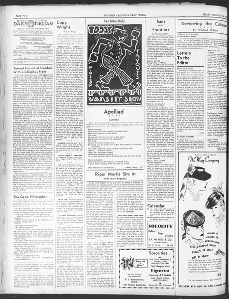 Daily Trojan, Vol. 30, No. 85, February 24, 1939