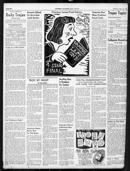 Daily Trojan, Vol. 31, No. 148, May 20, 1940
