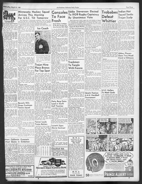 Daily Trojan, Vol. 29, No. 104, March 23, 1938