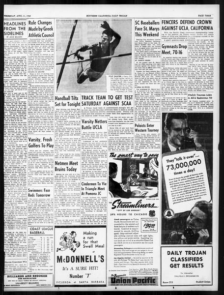 Daily Trojan, Vol. 31, No. 122, April 11, 1940
