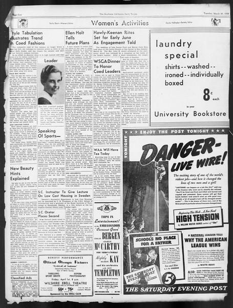 Daily Trojan, Vol. 29, No. 108, March 29, 1938