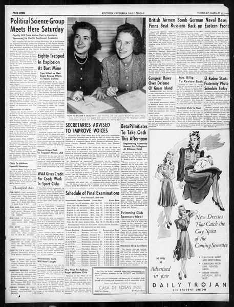 Daily Trojan, Vol. 31, No. 71, January 11, 1940