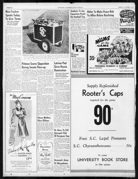 Daily Trojan, Vol. 31, No. 16, October 06, 1939