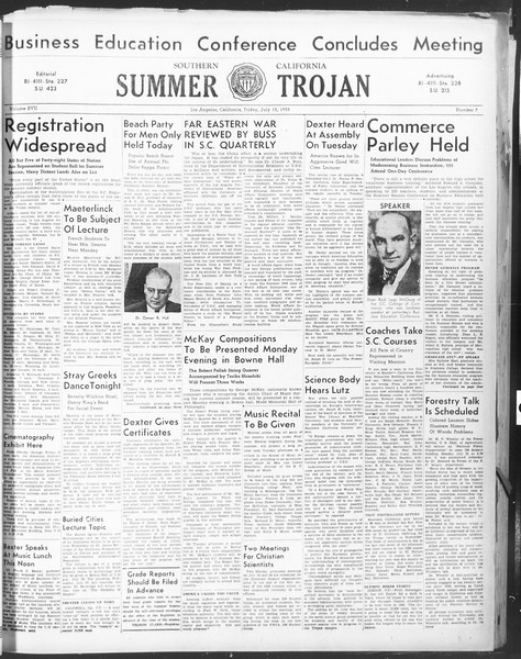 Summer Trojan, Vol. 17, No. 7, July 15, 1938