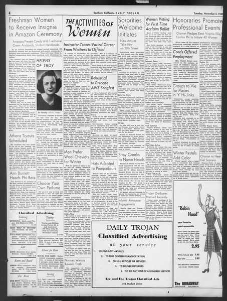Daily Trojan, Vol. 32, No. 37, November 05, 1940