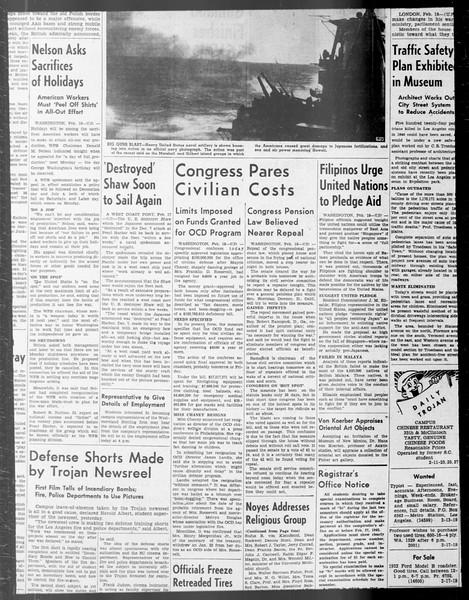 Daily Trojan, Vol. 33, No. 75, December 31, 1941