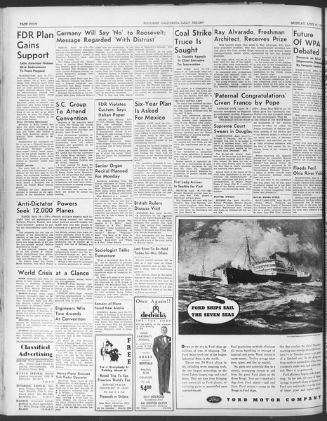 Daily Trojan, Vol. 30, No. 116, April 17, 1939