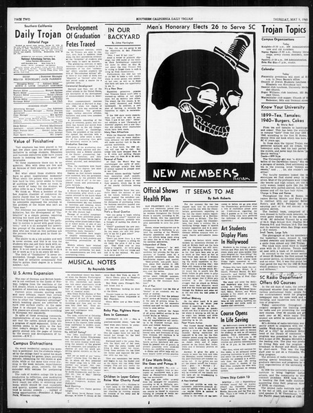 Daily Trojan, Vol. 31, No. 141, May 09, 1940
