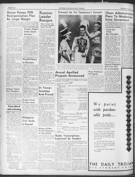 Daily Trojan, Vol. 30, No. 129, May 04, 1939