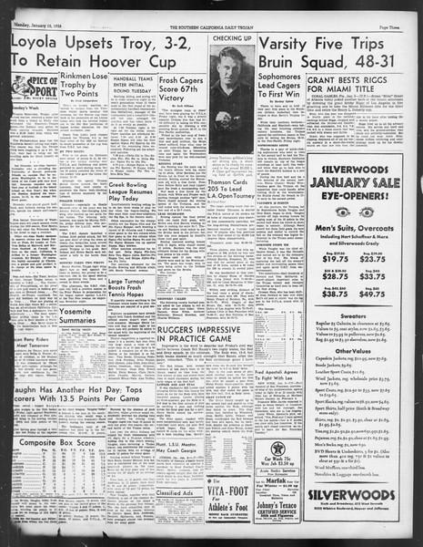 Daily Trojan, Vol. 29, No. 63, January 10, 1938