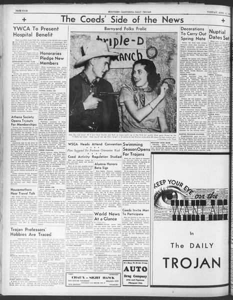 Daily Trojan, Vol. 30, No. 112, April 11, 1939