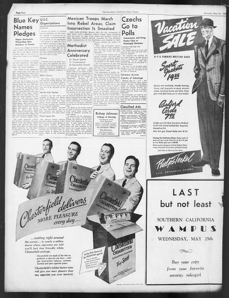 Daily Trojan, Vol. 29, No. 142, May 23, 1938