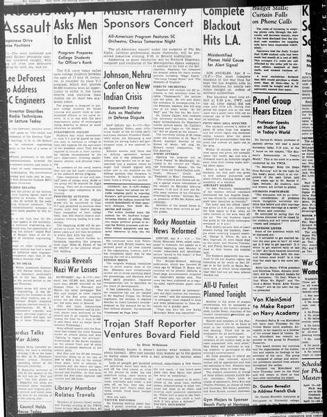 Daily Trojan, Vol. 33, No. 103, February 02, 1942