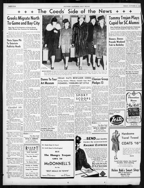 Daily Trojan, Vol. 31, No. 31, October 27, 1939