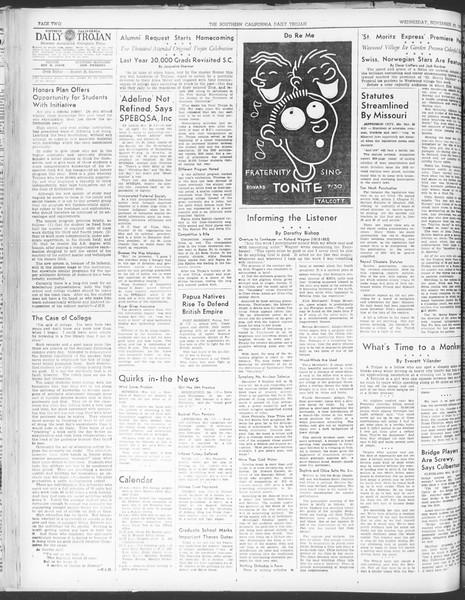 Daily Trojan, Vol. 30, No. 50, November 30, 1938