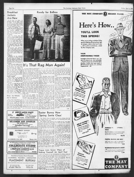 Daily Trojan, Vol. 29, No. 116, April 08, 1938