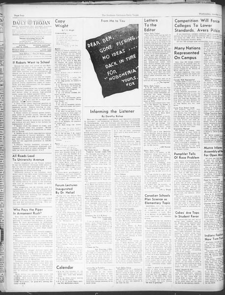 Daily Trojan, Vol. 30, No. 13, October 05, 1938