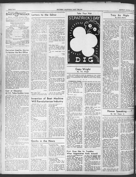 Daily Trojan, Vol. 30, No. 96, March 13, 1939