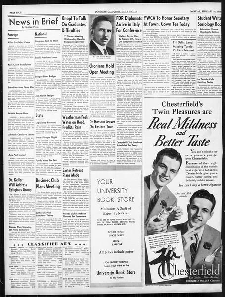 Daily Trojan, Vol. 31, No. 91, February 26, 1940
