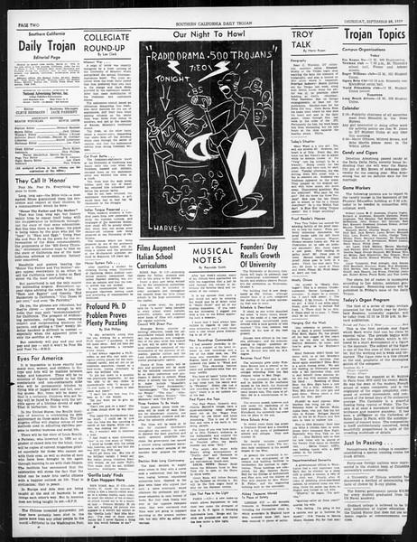Daily Trojan, Vol. 31, No. 10, September 28, 1939