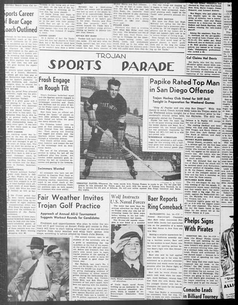 Daily Trojan, Vol. 33, No. 66, December 20, 1941