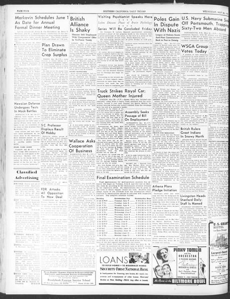 Daily Trojan, Vol. 30, No. 143, May 24, 1939