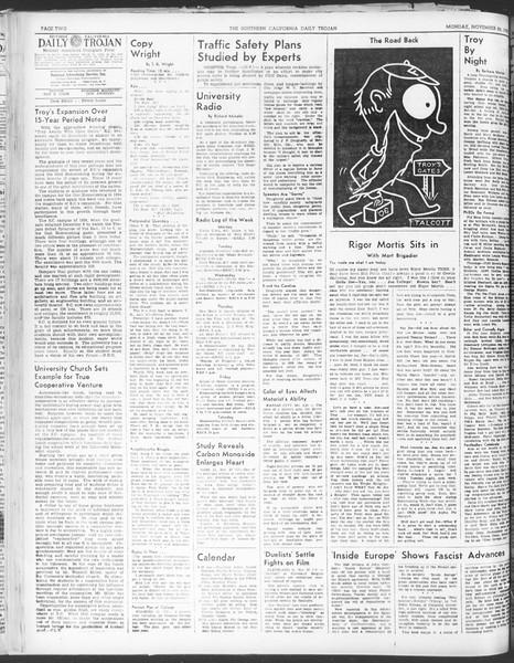 Daily Trojan, Vol. 30, No. 48, November 28, 1938