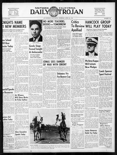 Daily Trojan, Vol. 31, No. 132, April 25, 1940