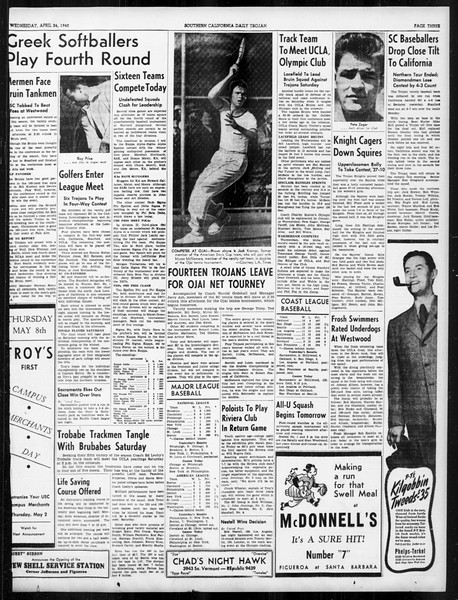 Daily Trojan, Vol. 31, No. 131, April 24, 1940