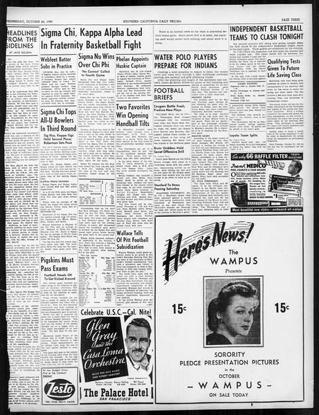 Daily Trojan, Vol. 31, No. 29, October 25, 1939