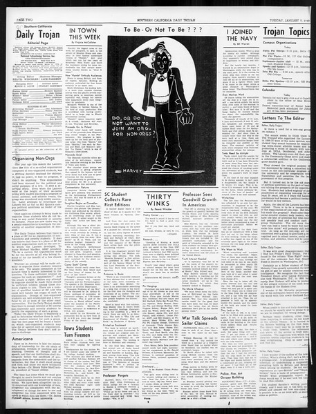 Daily Trojan, Vol. 31, No. 69, January 09, 1940