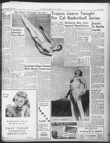 Daily Trojan, Vol. 30, No. 84, February 23, 1939
