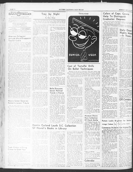 Daily Trojan, Vol. 30, No. 146, May 29, 1939
