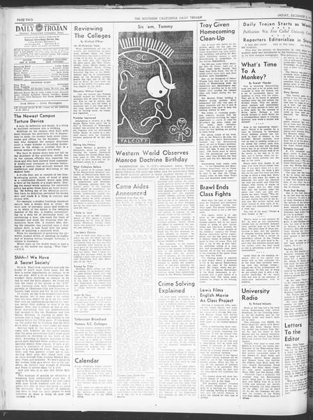 Daily Trojan, Vol. 30, No. 52, December 02, 1938