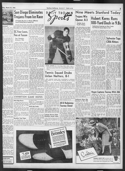 Daily Trojan, Vol. 32, No. 112, March 31, 1941