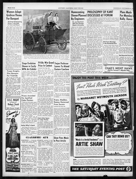 Daily Trojan, Vol. 31, No. 51, November 29, 1939