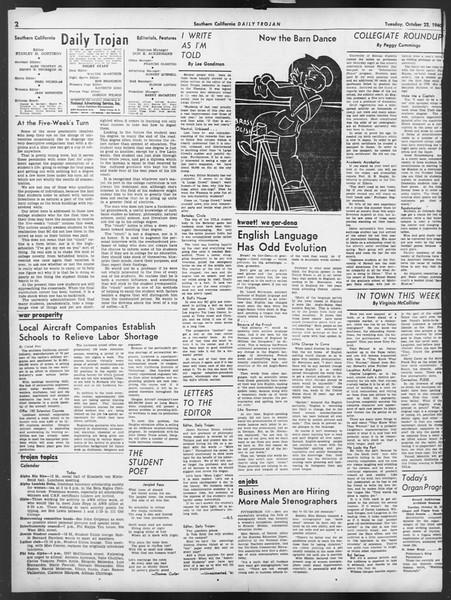 Daily Trojan, Vol. 32, No. 28, October 22, 1940