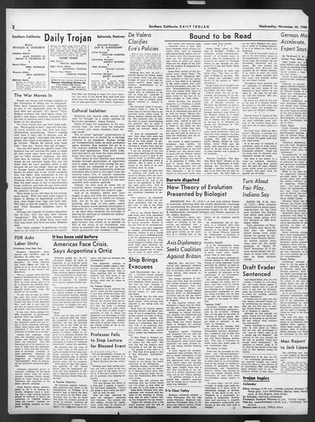 Daily Trojan, Vol. 32, No. 47, November 20, 1940