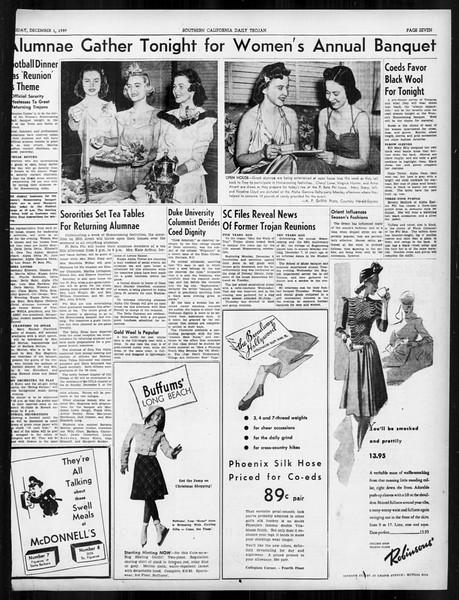Daily Trojan, Vol. 31, No. 53, December 01, 1939