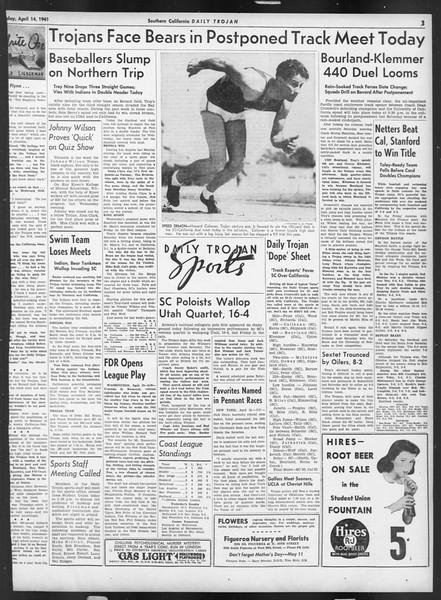 Daily Trojan, Vol. 32, No. 120, April 14, 1941
